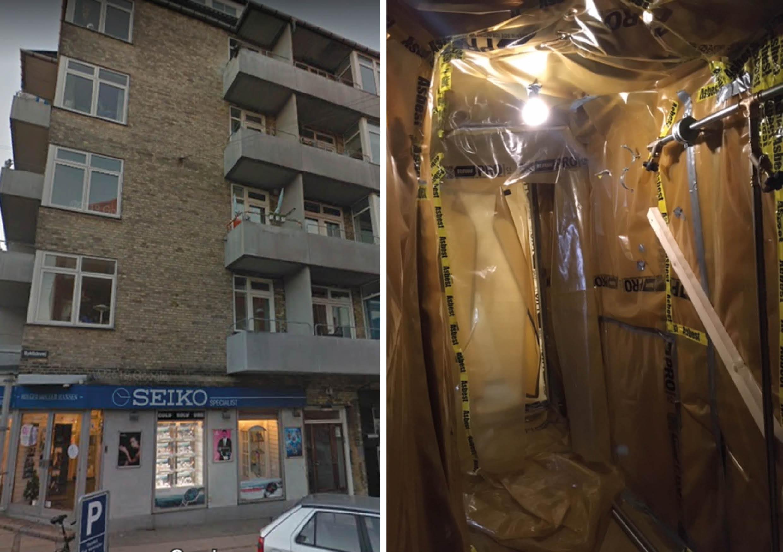 VVS-installationer omlægges i telt på loftet
